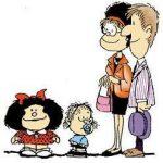 Papa de Mafalda, la victima preferida de su hija