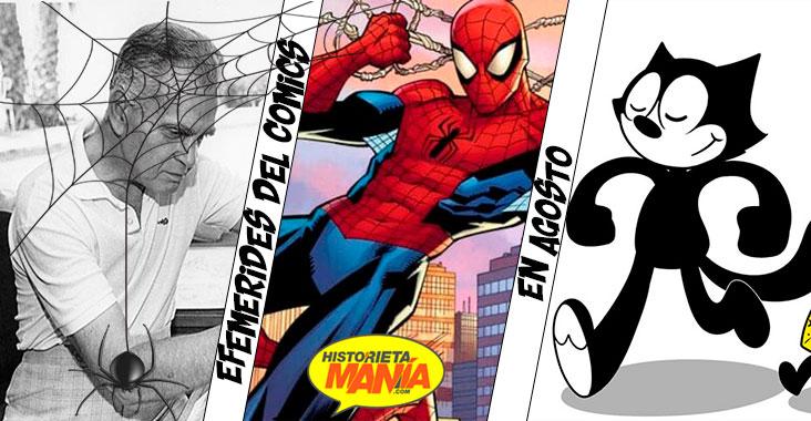 efemerides del comics en agosto