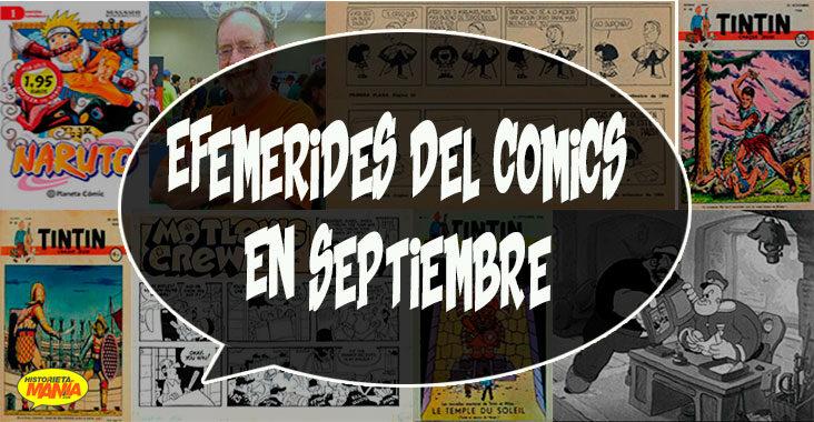 efemerides del comics en septiembre