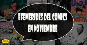 efemerides del comics en noviembre