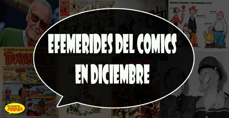 efemerides del comics en diciembre